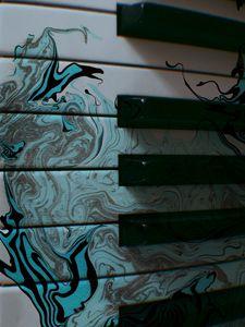 Piano Marbling Art Print