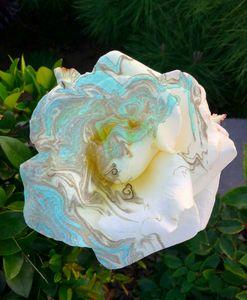 Sumi Rose Marbling Art Print