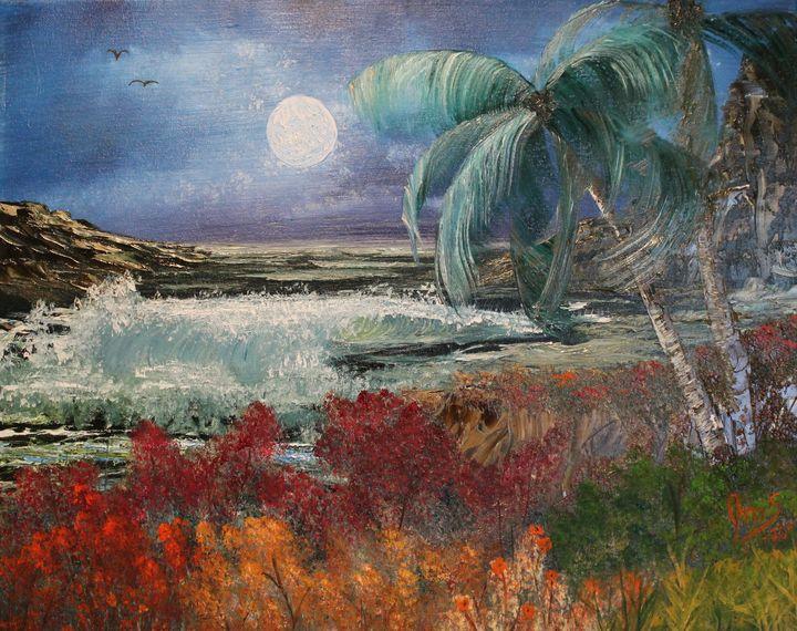 Moonlit Paradise - JMStarritt Artwork
