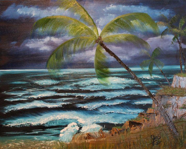 Palms in the Moon Light - JMStarritt Artwork
