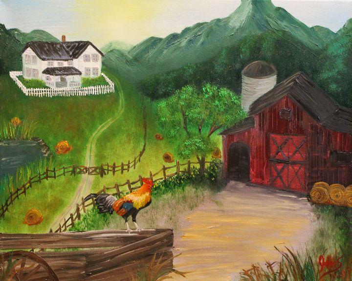 Mountain Farm - JMStarritt Artwork