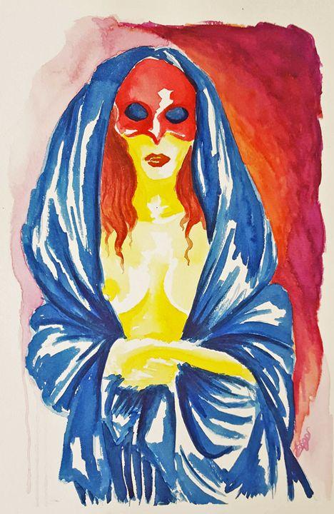 Mulher com máscara - Tiago Segundo