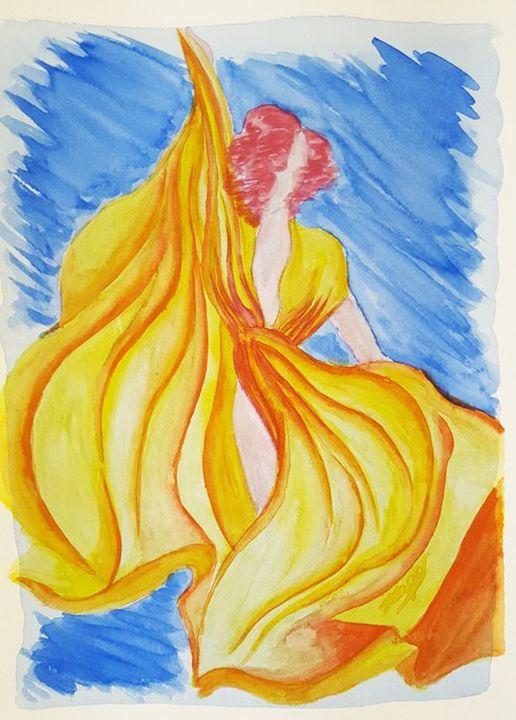 Mulher com Vestido Amarelo - Tiago Segundo