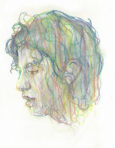 Green Woman's Head