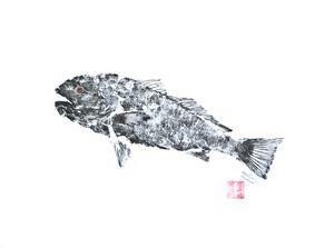 Redfish Ascending - B & W