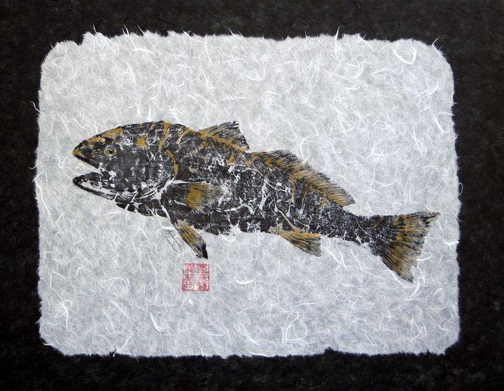 Redfish Golden - with border - Adrienne Anastasia