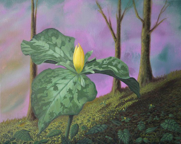 Yellow Trillium of the Smokies - Adrienne Anastasia