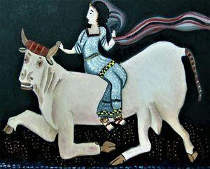Europa riding Zeus - Karen Serfinski