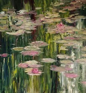 Water lily , Claude Monet copied art