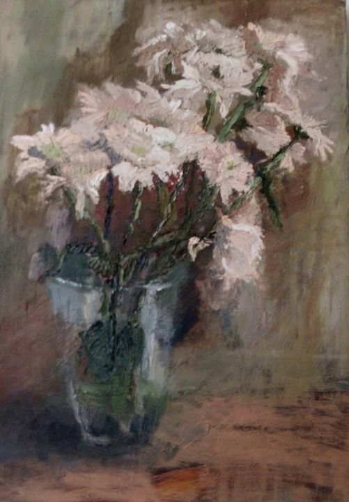 white flowers - ARTGATEPROJECTS - Paintings & Prints, Flowers, Plants, &  Trees, Flowers, Other Flowers - ArtPal