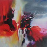 80x80 cm oil painting