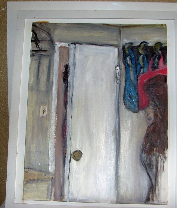 My mannequin looking out doorway - Creations by Flora