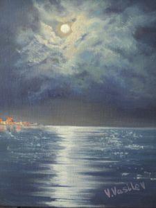 Night seascape Italy