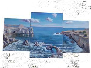Impressionist seascape oil painting