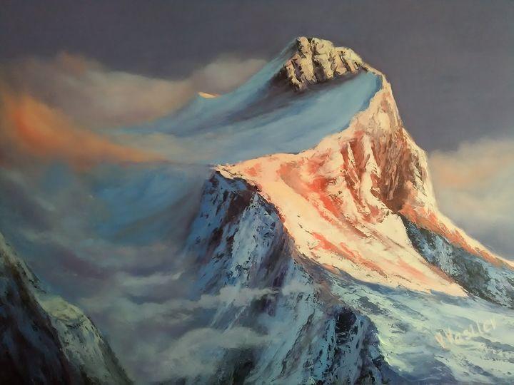 snow-capped mountain peak - my world of art