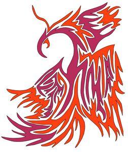 Phoenix Abstract 001