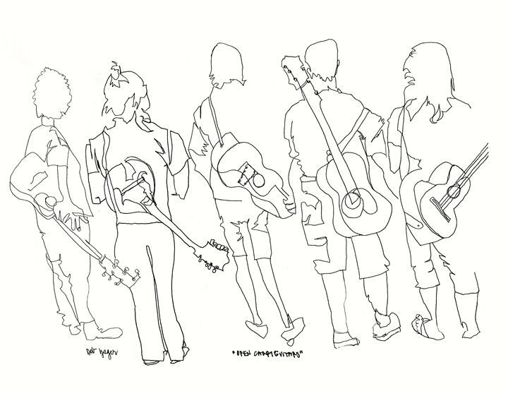 Open Carry Guitars - deb yager art