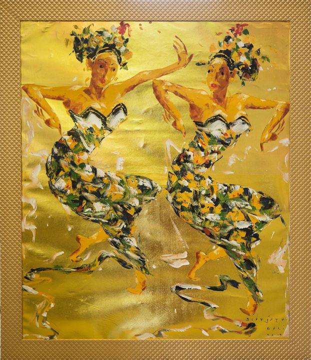 """""""Golden dance"""" - Balihandpainters"""