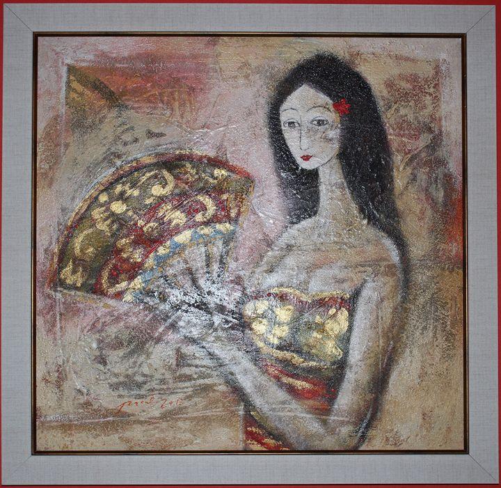 """""""Lady with Fan"""" - Balihandpainters"""