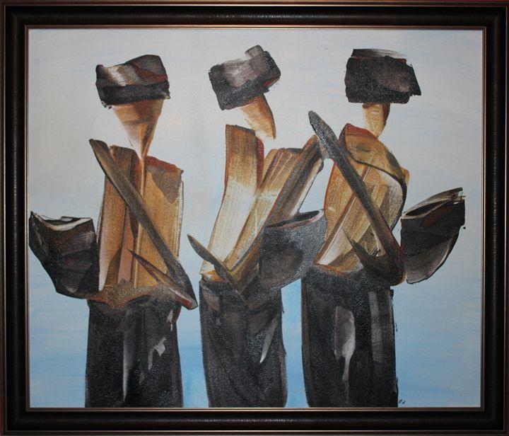 """""""3 mens"""" - Balihandpainters"""