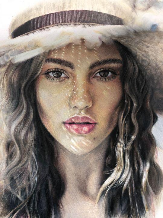 Girl in a hat - Li Darya