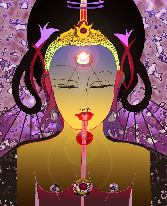 Reflection On The Mystical Mirror - Paintings by Jean Laurent Orgaz