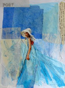 LADY IN BLUE (Ladies series) - Susana Llobet
