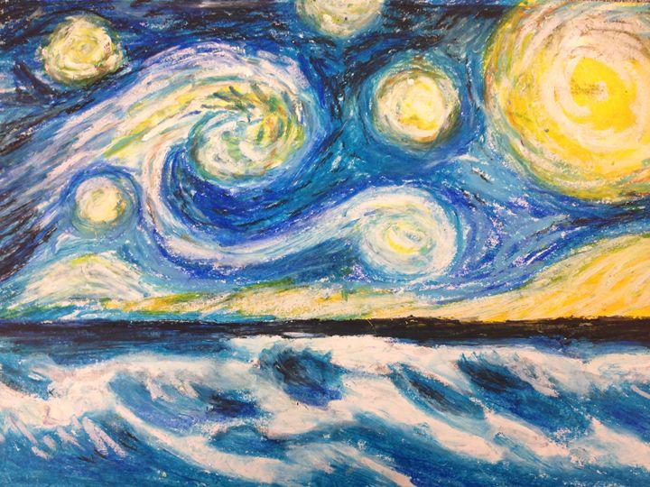 Starry Night Over Mermaid Beach - Julia's Watermarks