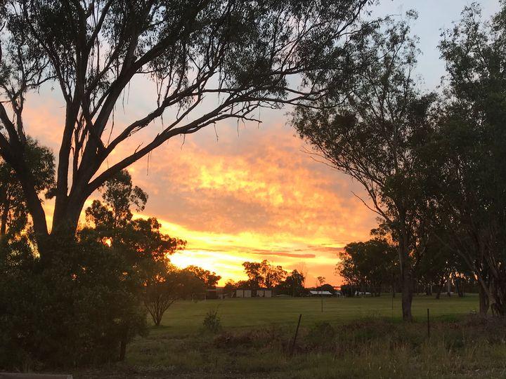 Texas Qld Sunset - Julia's Watermarks