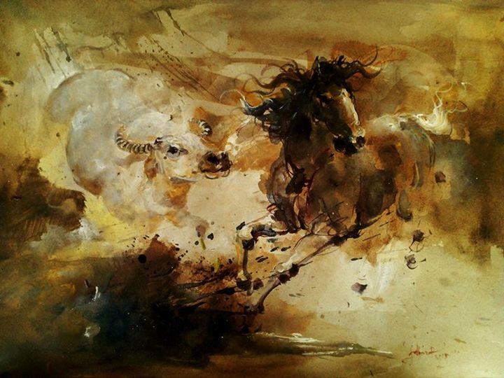 Horse and Buffalo Expressions - Fatkur Hartono