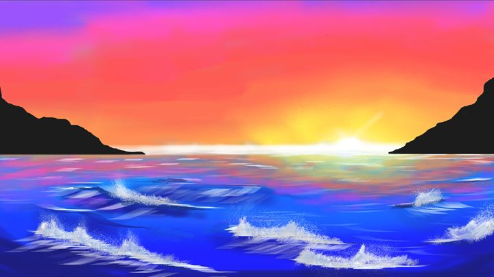 Sunset Seascape - Aramis' Art