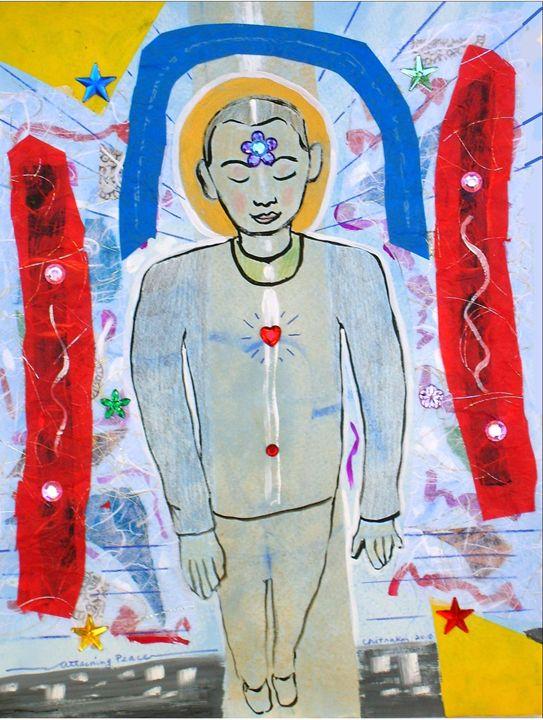 Attaining Peace - Harry Chitrakar Kottler's Paintings