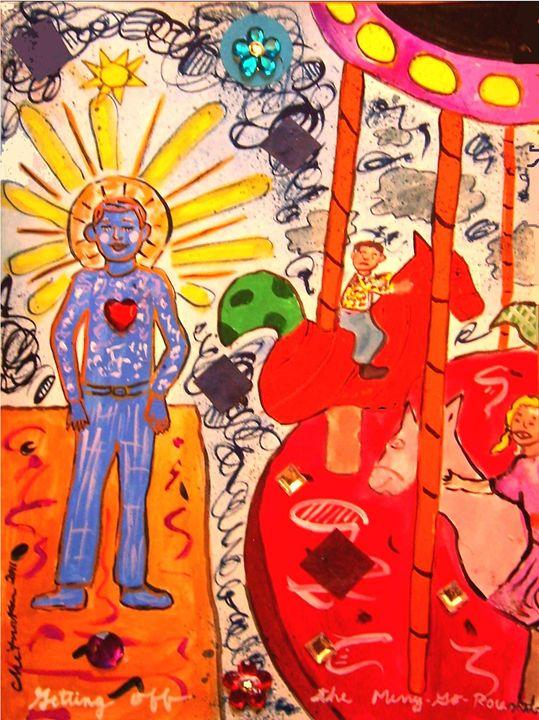 Getting Off the Merry-Go-Round - Harry Chitrakar Kottler's Paintings
