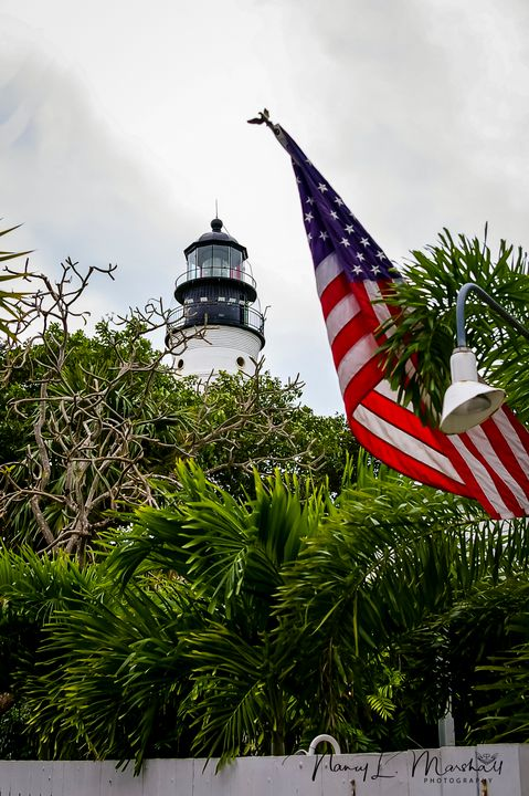 Key West Light House Signed - ccgrin