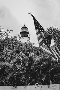 Key West Light House B&W Signed