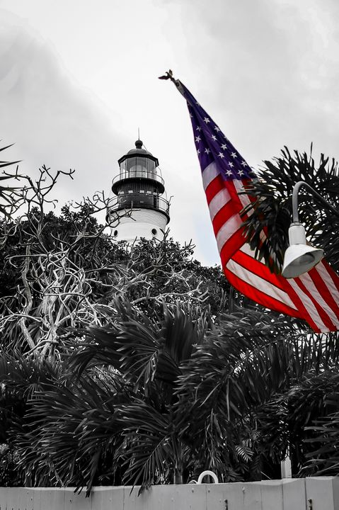Key West Light House Color Pop - ccgrin