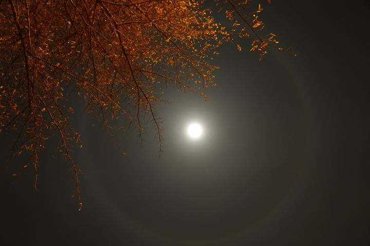 Full Moon Halo - Painting with Light