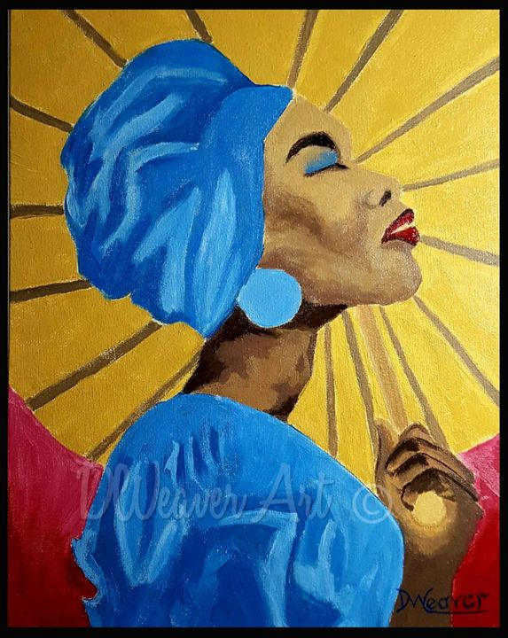"""""""Lady with a Umbrella"""" - Dee Weaver"""