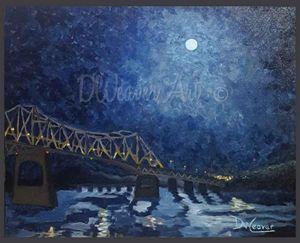 Moonlight over Oneal Bridge