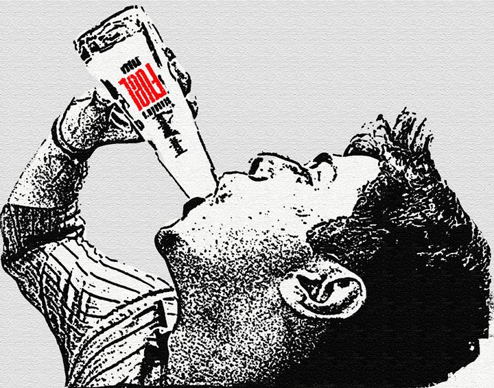 Alcoholic drinking from the bottle - Capturing Life