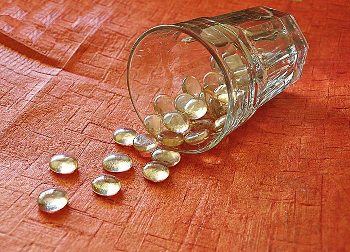 Glass beans spill - Capturing Life