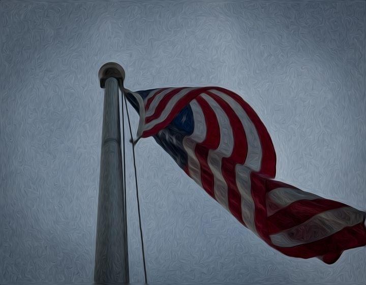 American Flag Fluttering - Capturing Life