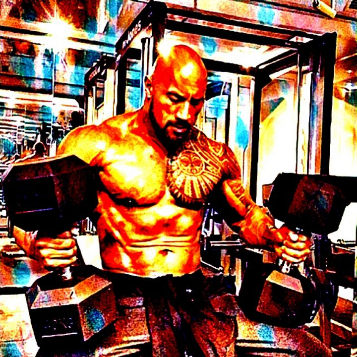 The Rock working out - Abstracto21