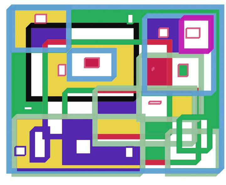 Colored squares - Abstracto21