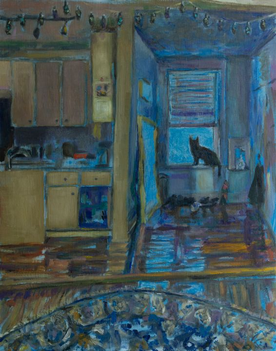 """""""Sneaky Cerulean"""" - Cathy Lavin"""