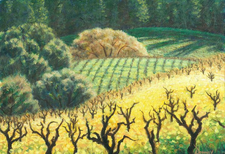 Dormants in the Mustards - Carl Downey Art Gallery