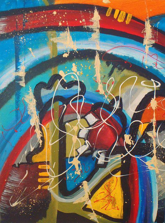 CONTACT - Anabel Molina art original painting