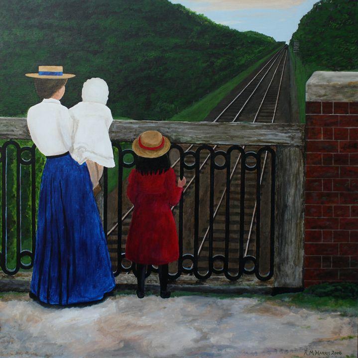 Trainspotting on Crookhill Bridge - Robert Harris