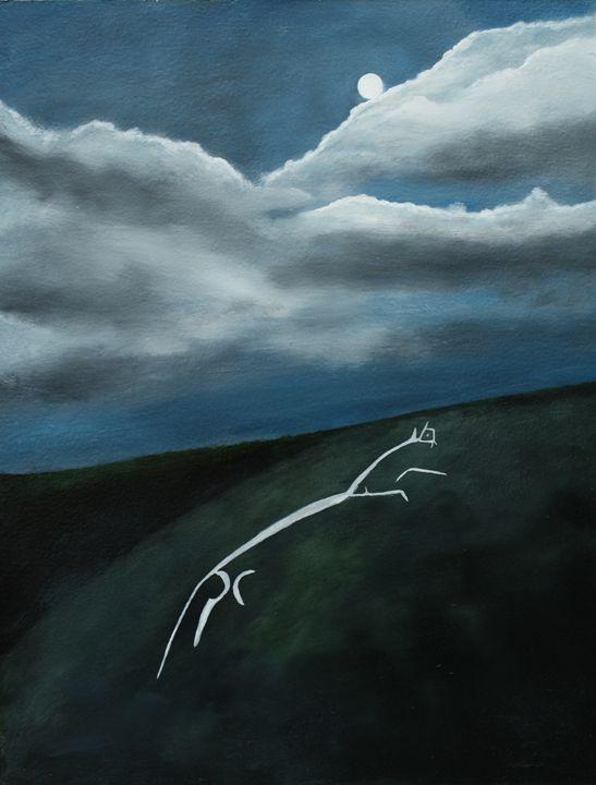 Uffington White Horse by moonlight - Robert Harris