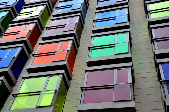 Color square buildings - Alberto Elorduy